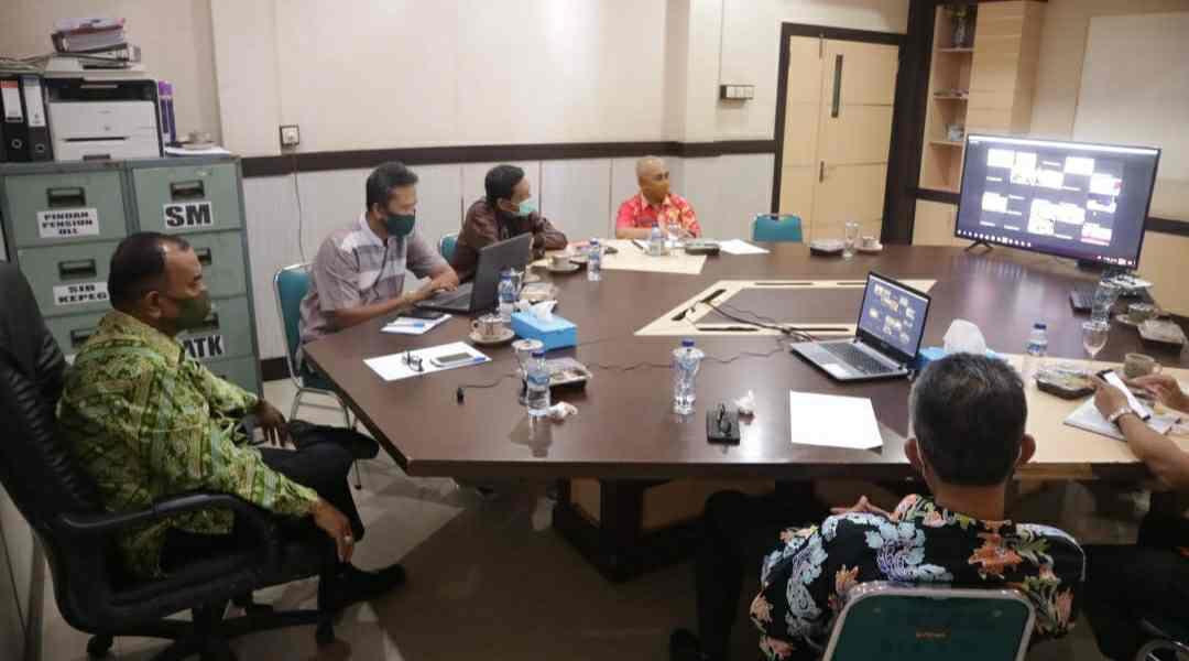 Wabup Amir Sakib saat ikuti rapat virtual pilkada serentak