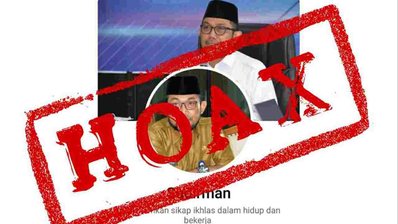 Hoax akun FB Pj Sekda Provinsi Jambi