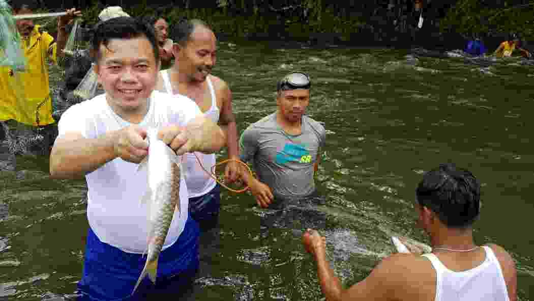 Al Haris saat buka Lubuk Larangan Sungai Batang Air Liki