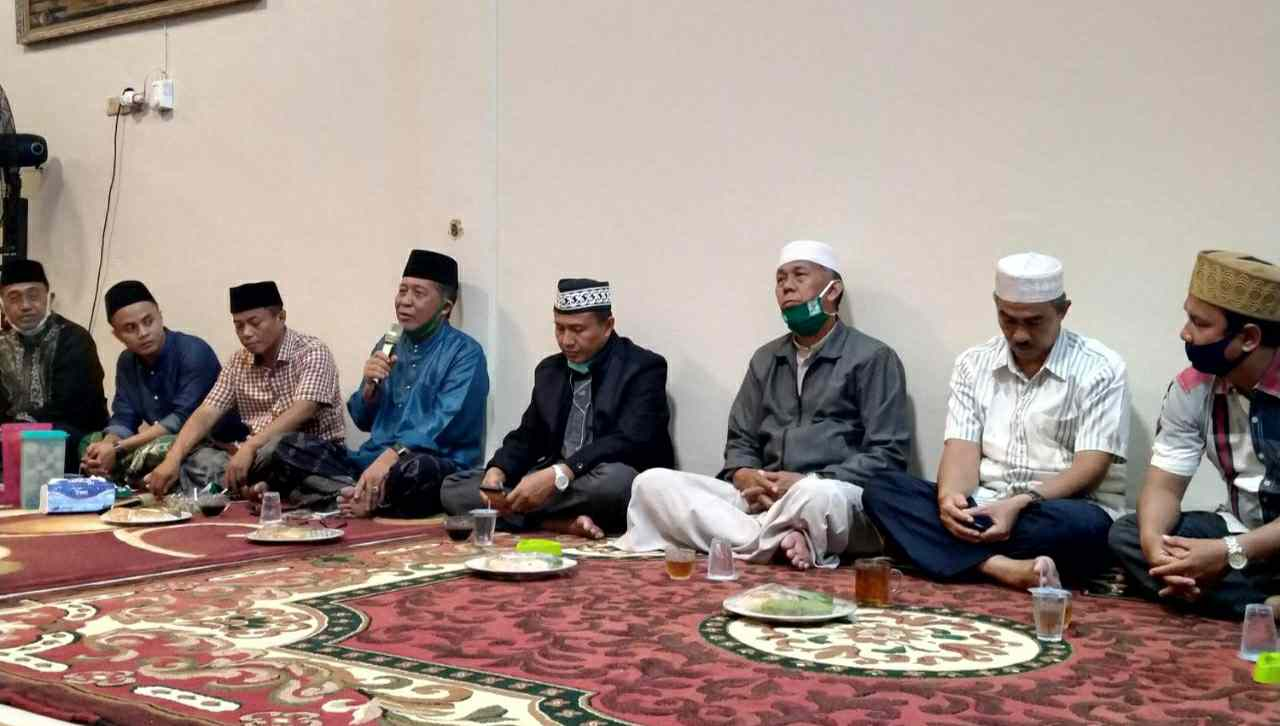 Abdullah Sani saat konsolidasi bersama partai pengusung di Tanjab Barat