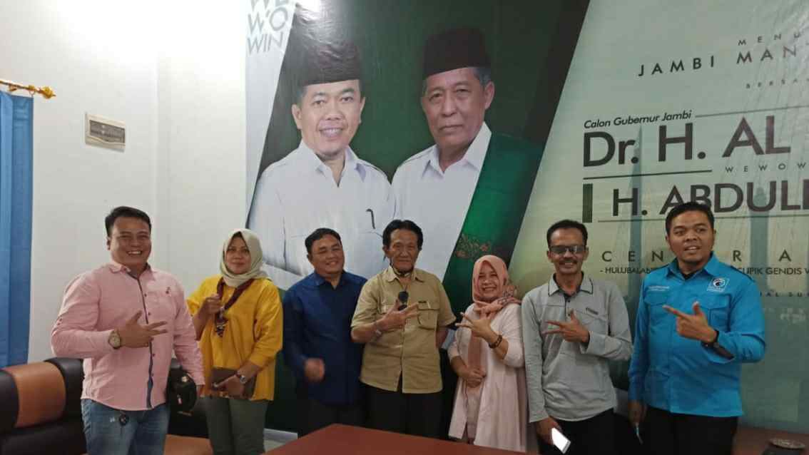 DPW Gelora Jambi bersama Tim Hulubalang Haris-Sani