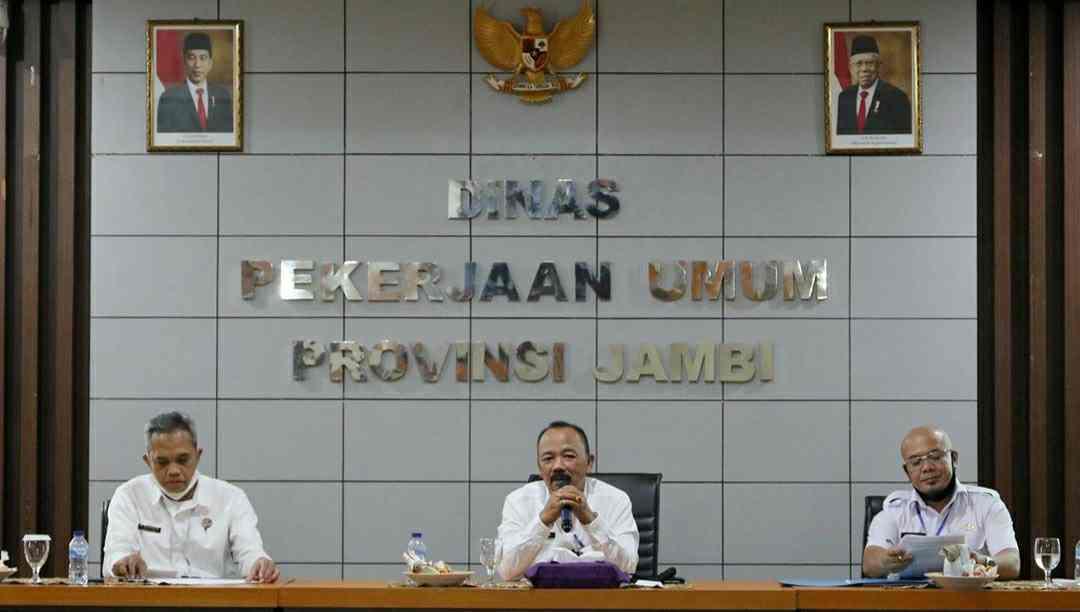 Rapat evaluasi capaian kegiatan APBD 2020 PUPR Jambi