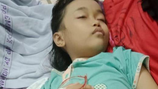Anisa anak penderita leukimia