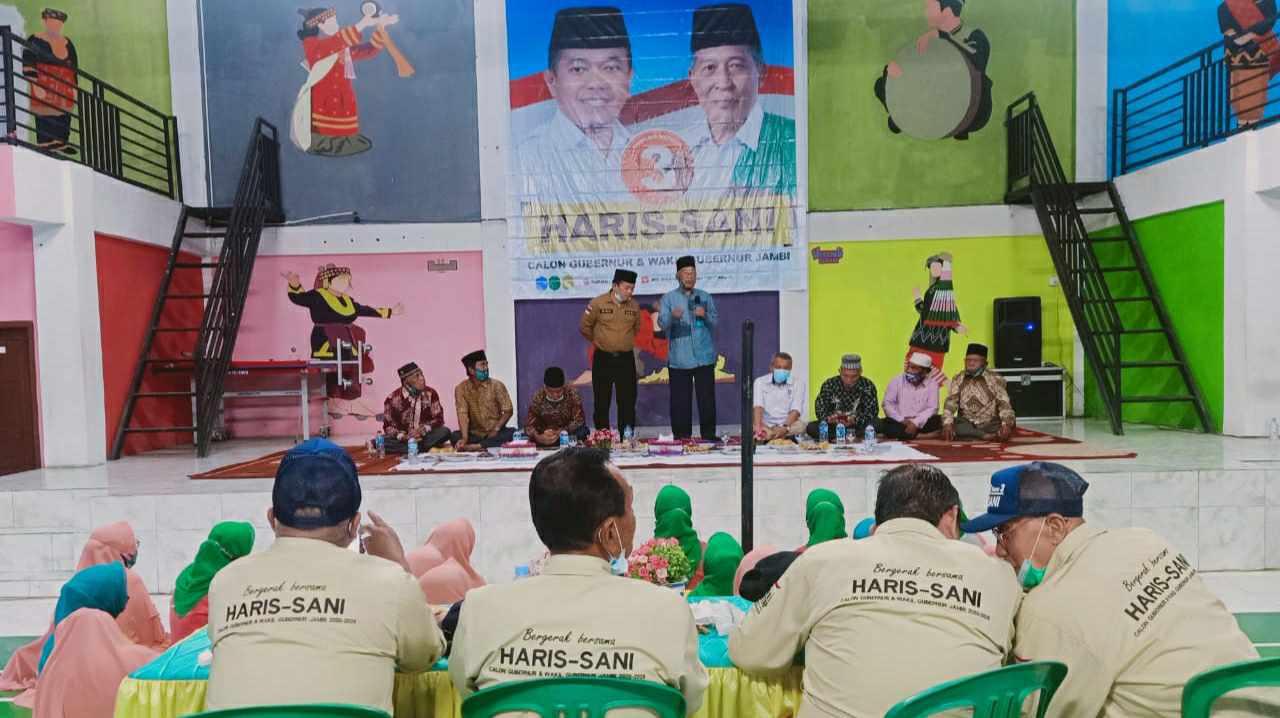 Al Haris saat silaturahmi dengan masyarakat Siulak Mukai