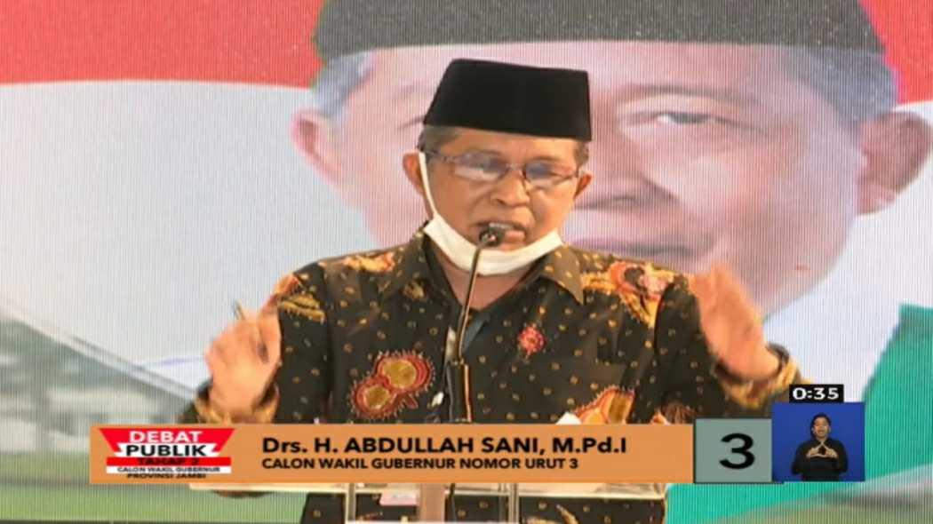 Cawagub Jambi, Abdullah Sani