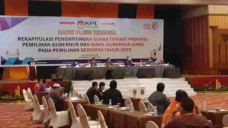 Rapat pleno tingkat provinsi Pilgub Jambi 2020