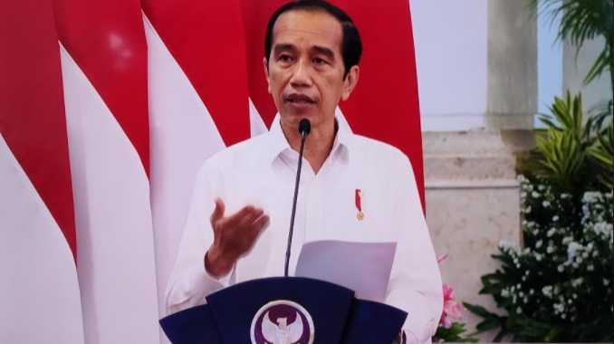 Presdien Jokowi saat berikan arahan di Rakornas Penanggulangan Bencana Alam 2021