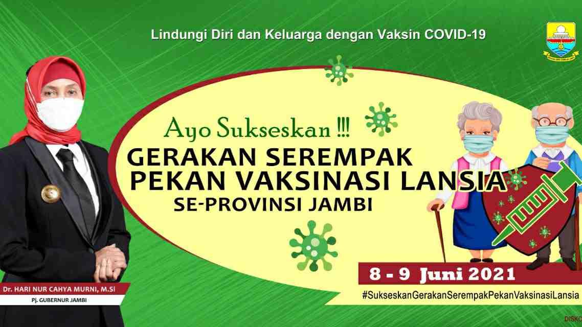 Gerakan vaksinasi lansia se-Provinsi Jambi