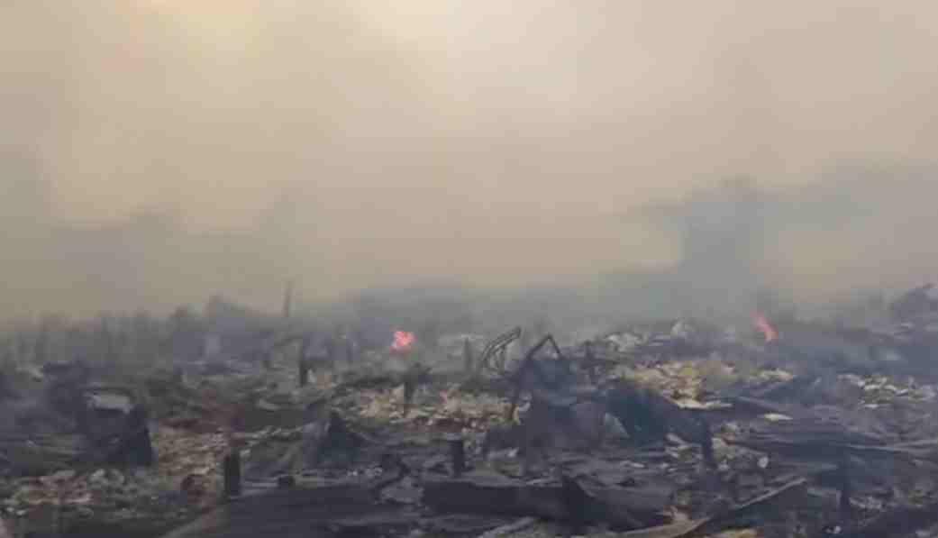 Ratusan rumah hangus terbakar di Desa Mendahara Tengah
