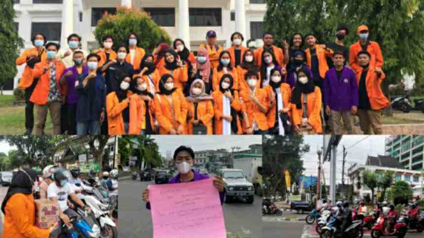 Penggalangan dana korban kebakaran di Tanjab Timur oleh mahasiswa UNJA dan UNH