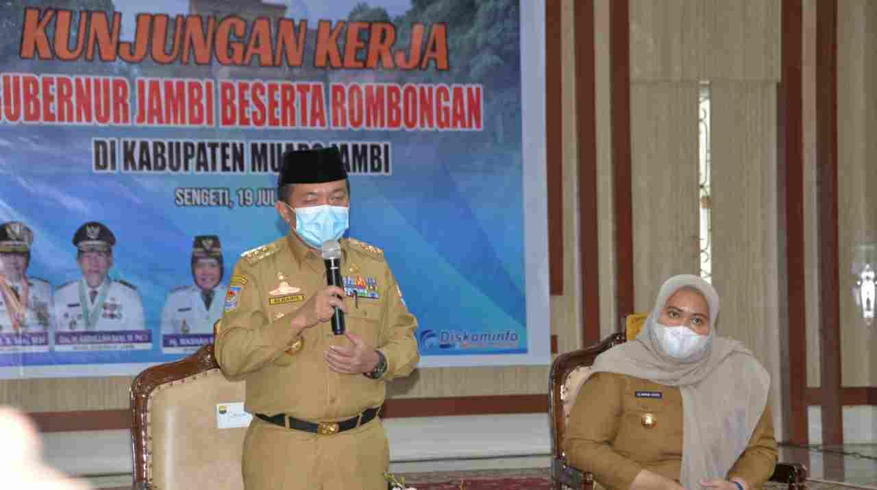 Gubernur Al Haris saat kunjungan kerja ke Muaro Jambi