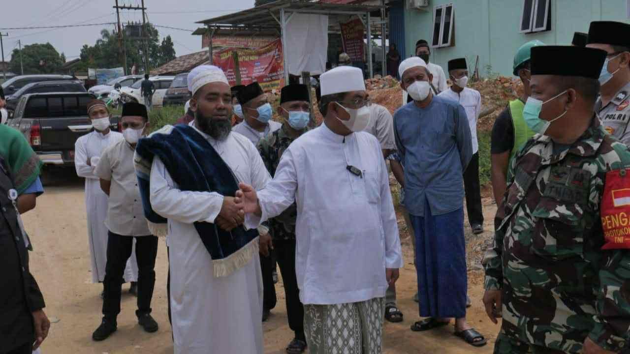 Bupati Anwar saat Safari Jumat di Masjid Al Makmur Simpang Rambutan Desa Suban