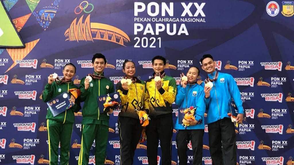 Atlet senam aerobik Jambi peraih medali perak dan perunggu di PON Papua
