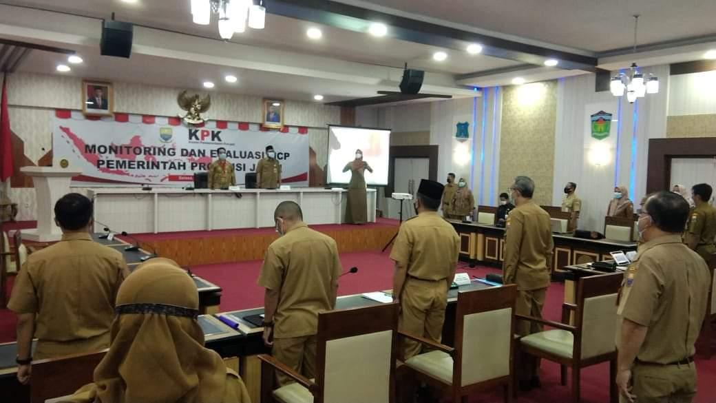 Rapat Monitoring dan Evaluasi MCP oleh KPK