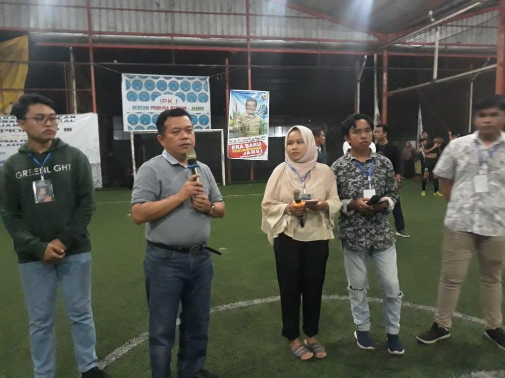 Al Haris saat hadiri penutupan turnamen lintas organisasi mahasiswa-pelajar Kerinci-Sungai Penuh