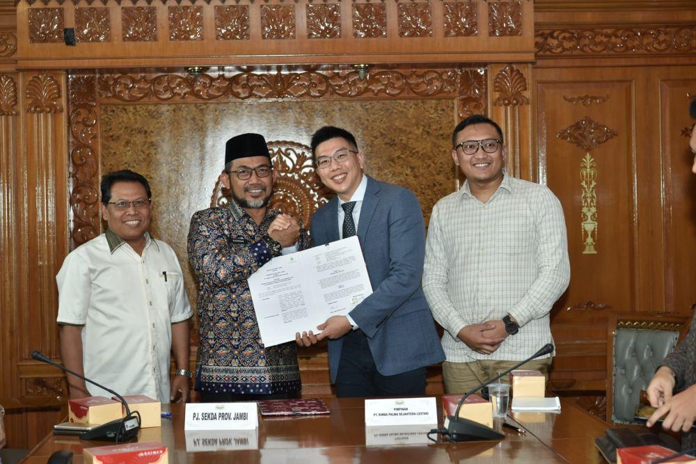 Tingkatkan Pembangunan Jalan, Pemprov Jambi Jalin Kerjasama Dengan PT Rimba Palma