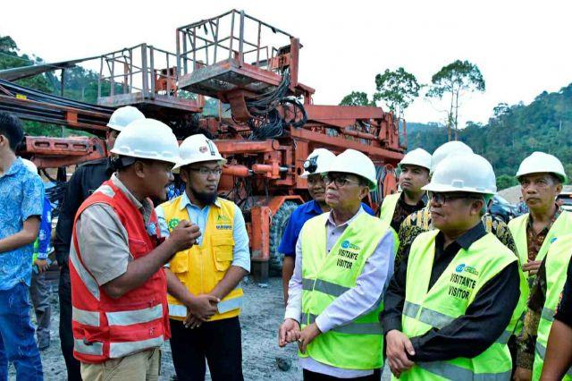 Fachrori Tinjau Pembangunan PLTA Batang Merangin Kerinci