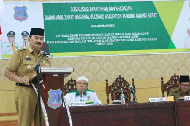 Wabup Amir Sakib Himbau ASN Tunaikan Zakat melalui Baznas