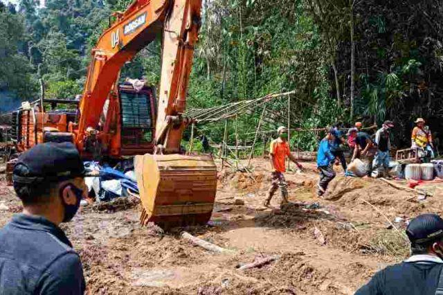 TNI, Polres Bersama Pemkab dan Warga Turun Razia PETI di Bungo