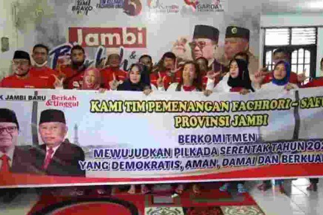Tim Pemenangan Fachrori-Safrial Deklarsikan Pilkada Damai