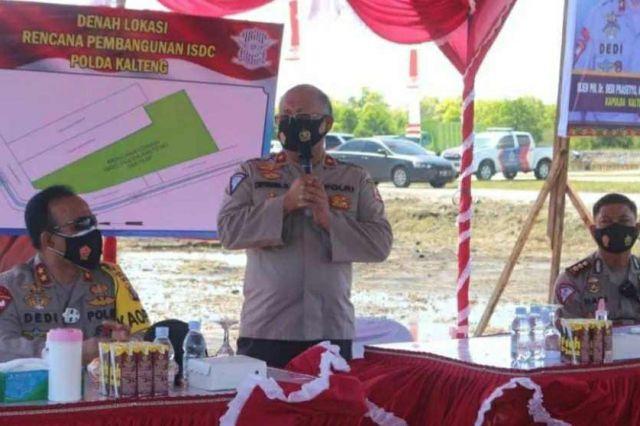 Dirkamsel Korlantas Polri Tinjau Pembangunan ISDC Polda Kalteng