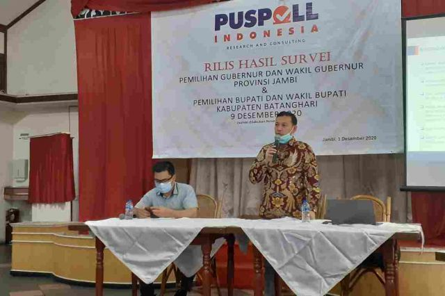 Survei Pilgub Jambi Puspoll Indonesia, Elektabilitas CE-Ratu Ungguli Dua Kandidat Lainnya