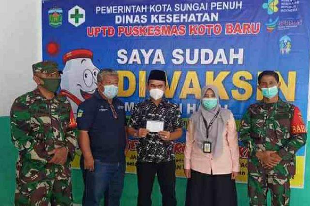 Ketua DPRD Sungai Penuh, Fajran Divaksin Covid-19