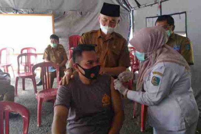 Pemkab Kerinci Lakukan Vaksin Dosis ke 2, Wartawan Jadi Prioritas