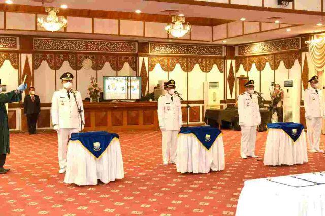 Pj Gubernur Jambi Lantik Bupati Terpilih Secara Hybrid, Ini Pesannya
