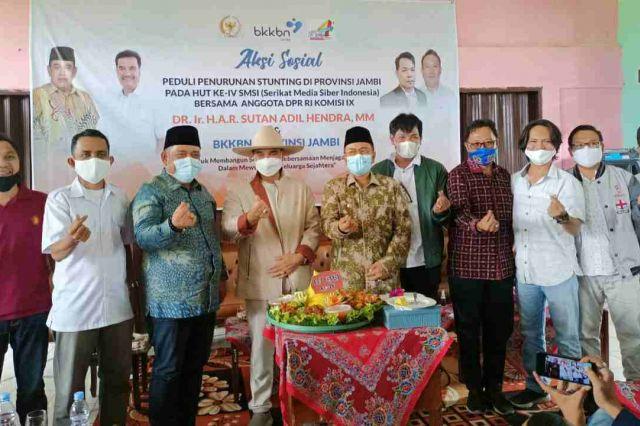 Aksi Sosial Penurunan Stunting Kerjasama SMSI Jambi BKKBN dan SAH Sukses Digelar