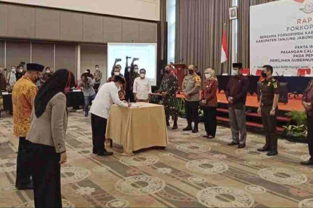 Rakor Pilkada Damai, Pj Gubernur Ingin Pemilihan Ini Tidak Membuat Perpecahan