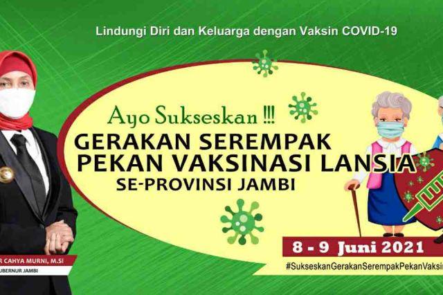 Pj Gubernur Instruksikan Gerakan Serempak Pekan Vaksinasi Lansia se-Provinsi Jambi