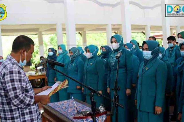 Bupati Romi Lantik Pengurus TP-PKK Kabupaten Tanjab Timur