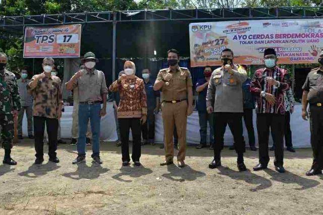 Pj Gubernur Lakukan Peninjauan PSU Pilkada 2020 Provinsi Jambi