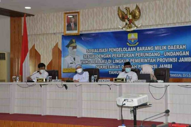 Pj Gubernur Buka Acara Sosialisasi Penyusutan Barang Milik Daerah Lingkup Pemprov Jambi