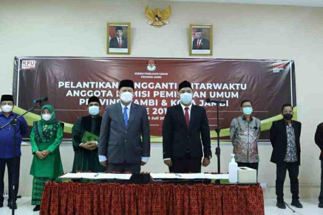 Parmin Dilantik Jadi Anggota KPU Provinsi Jambi, Gantikan Sanusi