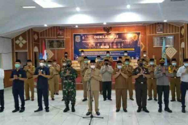 Bupati Adirozal Pimpin Deklarasi Bersama Pencegahan Penyebaran Covid-19 di Kerinci
