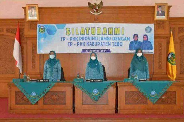 Hesnidar Haris Kunjungi Tim PKK Kabupaten Tebo