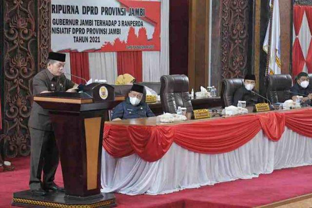 Gubernur Al Haris Dukung Tiga Ranperda Inisiatif DPRD Provinsi Jambi