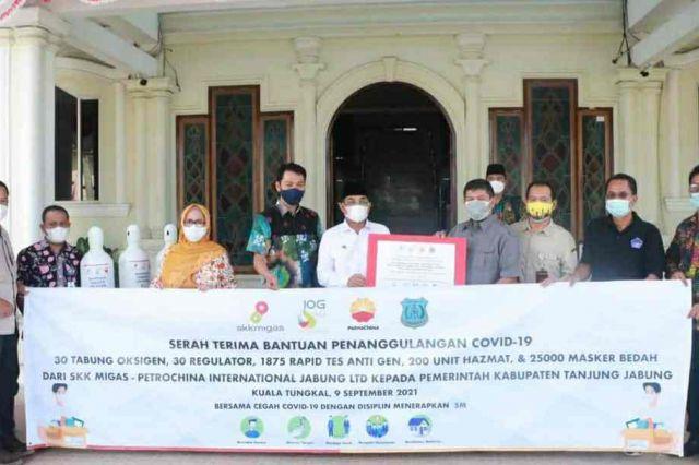 Bupati Anwar Terima Bantuan Penanggulangan Covid-19 dari SKK Migas-Petrochina