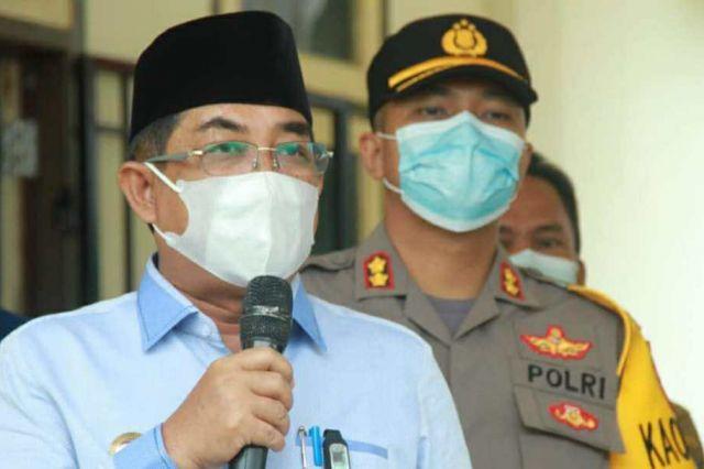 Bupati Anwar Tinjau Pelaksanaan Serbuan Vaksin TNI Kodim 0419/Tanjab di Betara