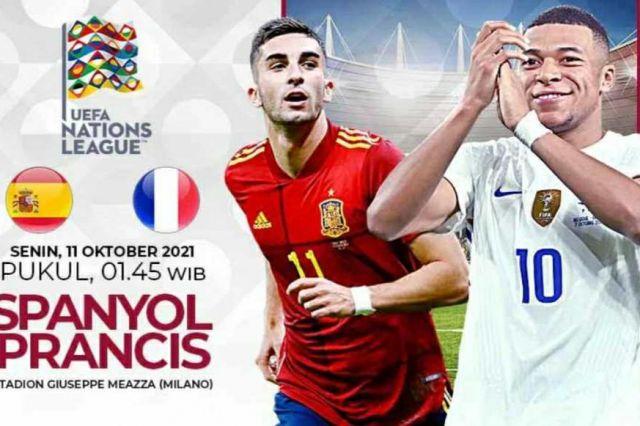 Link Nonton Final EUFA Nations League Spnayol vs Prancis