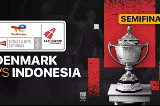 Link Live Streaming Semifinal Thomas Cup 2021 Indonesia vs Denmark