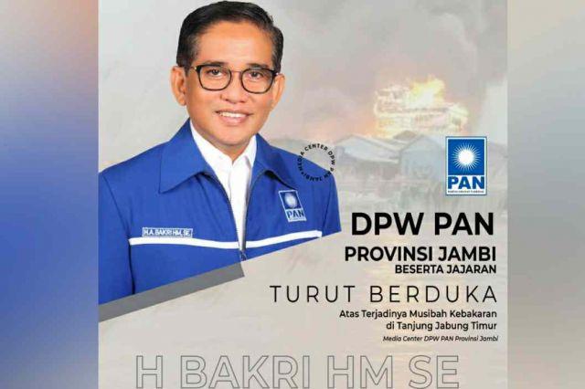 H. Bakri Instruksikan Kader untuk Donasikan Bantuan Korban Kebakaran di Tanjab Timur
