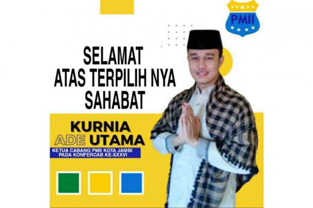 Ade Kurnia Utama Terpilih Menjadi Ketua Umum Cabang PMII Kota Jambi 2021-2022