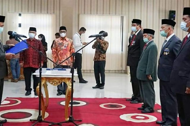 Mashuri Kukuhkan Pengurus Baznas Merangin Periode 2021-2026