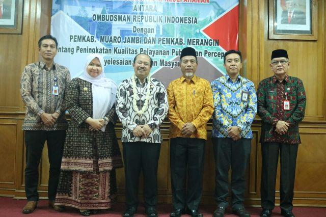 Tingkatkan Pelayanan Publik, Pemkab Merangin MOU dengan Ombudsman