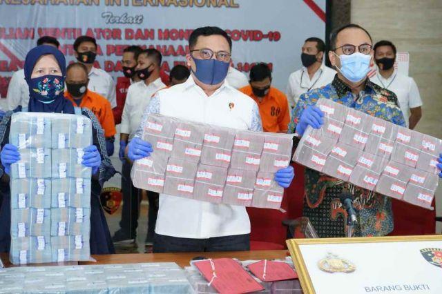 Penipuan Ventilator Covid-19, Bareskrim Polri Berhasil Amankan Tiga Pelaku dan Uang Rp 56 Miliar
