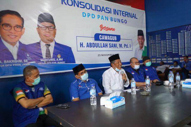 PAN Bungo Gelar Konsolidasi Internal Bersama Cawagub Abdullah Sani