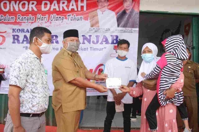 Safrial Buka Kegiatan Sosial HUT Radar Tanjab dan Hari Pers Nasional